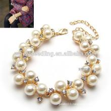 High quality diamond bracelet pearl friendship bracelets