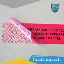 2017 Nuevo tipo etiqueta adhesiva de grado alimenticio y etiqueta anti-falsificación VOID con los brazos de la máquina