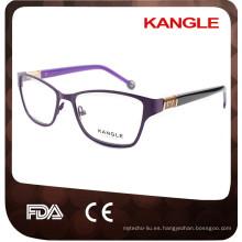 2017 marcos ópticos modificados para requisitos particulares de las gafas de metal de la vendimia del OEM