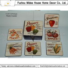 Factory Wholesale Retro Plastic Coaster