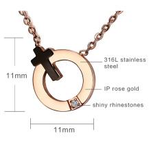 Кольцо кулон ожерелье с крестом символ кольцо Кулон