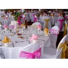 Toalha de mesa, 100% poliéster toalha de mesa, tampa de tabela do hotel