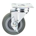 Roulette en caoutchouc gris de 2 po, roulette pivotante à 2 po