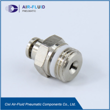 Luft-Fluid Teflon Waschmaschine Fitting Straight Male Adapter.
