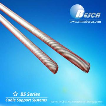 Galvanisch verzinkter Stahl-Gewindebolzen und Gewindestab