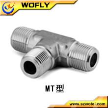 Aço inoxidável macho tee acessórios de tubos fábrica