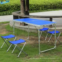 Art und Weise kampierender Schreibtisch-blauer Tabellen-Speisetisch