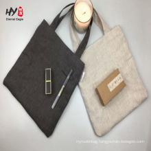 handmade custom convenient linen shopping tote bag