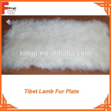 Wholesale Natural White Tibet Lamb Fur Plate