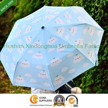 "21"" Digital drucken Faltung Cloud Regenschirm für Damen (FU-3821SKY)"