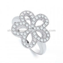 Wholesale Alibaba products J-JAZ Daisy Shape Fancy Crystal Ring for Women Jewelry Manufacturer