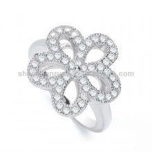 Venda Por Atacado Alibaba produtos J-JAZ Daisy Forma Fancy Crystal Anel para Jóias Mulheres Fabricante