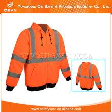 Hi Viz Hooded Sweatshirt Workwear Jacket