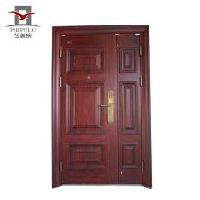 Puerta principal de acero indio diseños dobles de seguridad