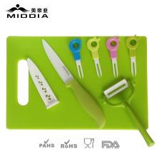 Vaisselle en céramique pour couteau + éplucheur + fourchettes + hacher pour la vaisselle