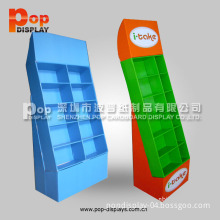 Point of Purchase Floor Stand Pocket Cardboard Retail Display/Tray Corrugated Paper Display Showcase/Retail Carton Display Rack (BP-SR451)