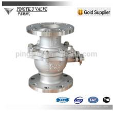 Pn25 C4 en acier inoxydable 321 316 304 robinet à bille à bride avec meilleur prix