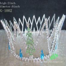 Nuevos diseños de coronas de desfile de strass para niños