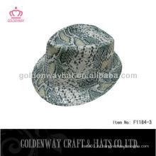 Оптовая цена блеск fedora hat змея дешево