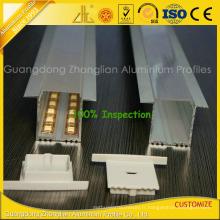 Profil en aluminium anodisé 6063-T5 pour bandes LED