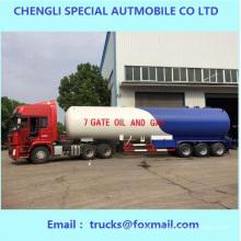 Famous 3 ejes 58.8cbm Gas líquido tanque Trailer para ventas