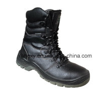 Good Sell Split Embossed Leather Safety Shoes (HQ05039)