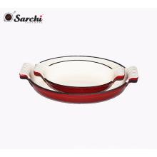 Panela de prato de esmalte de ferro fundido