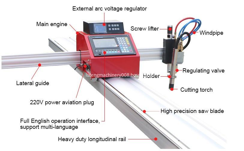 Gantry Gas CNC Portable Plasma Cutter DETAIL