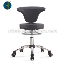 black swivel conference chair with chrome base