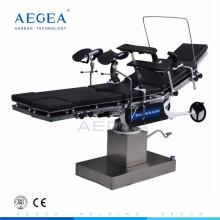 AG-OT013 Schwarze Matratze Krankenhaus manuelle hydraulische Chirurgie Tabellen Hersteller