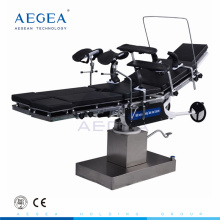 AG-OT013 hospital manual cranks adjust surgery hydraulic operating table