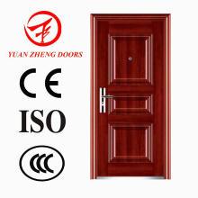 Puerta de madera de acero de la seguridad del color en China