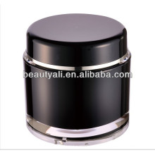 200g Round Cosmetic Black Acrylic Jar Wholesale