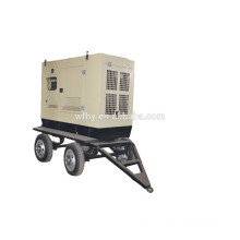 50KW mobile generator set with four wheel