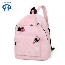 Backpack corduroy leisure travel backpack