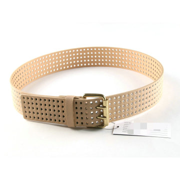 Environmental PU Material Punching Belt for Female′s Garment