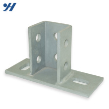 HDG Perforated Steel Structural Post Base Plate Bracket