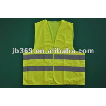 High visibility yellow reflective vest
