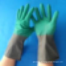 Lange Manschette Latex gemacht Haushalt Handschuh wasserdicht Reinigungsarbeit Handschuh