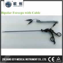 Лапароскопический эндоскоп с изоляцией изогнутыми биполярными щипцами с кабелем