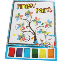magic water color kids finger painting