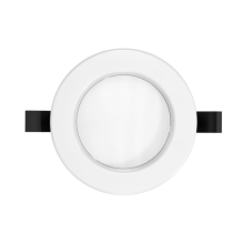 éclairage commercial rond encastré conduit downlight
