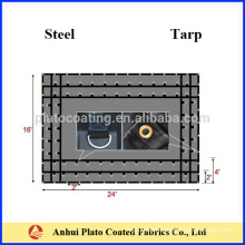 customized vinyl coated steel tarps made by Plato