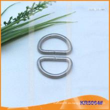 Tamaño interior 25mm Metal Hebillas, Regulador de metal, Metal D-Ring KR5064