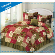 Rose Lawn Printed Polyester Patchwork Quilt
