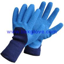 Зимняя теплая латексная перчатка