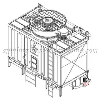 CTI Certified Cross Flow Closed Type Cooling Tower (JNC-60T)