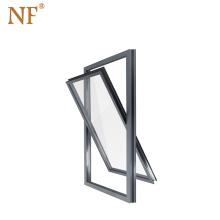 Vertical aluminum pivot casement window