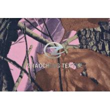 100% 2/2 Pink Bottom Forest Camou tecido de algodão para colete (ZCBP262)
