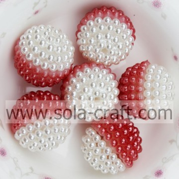 Factory Price Artificial Pearl For Necklace Finding Red Color 19MM